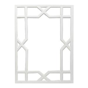 White Vero Lacquer Mirror from www.wellappointedhouse.com