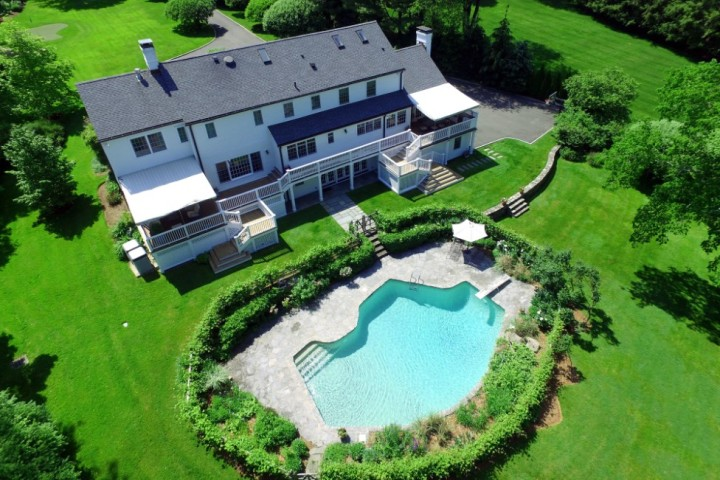 16-Greenbriar-Lane-Greenwich-CT-Real-Estate-Aerial-View