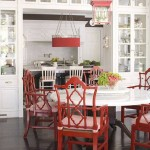 Italian Arm Chairs in Red
