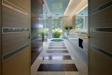 Terrazzo – the stuff of old hallway flooring – goes upscale