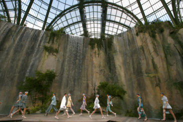 Chanel waterfall, Vuitton VIPs vie for attention in Paris