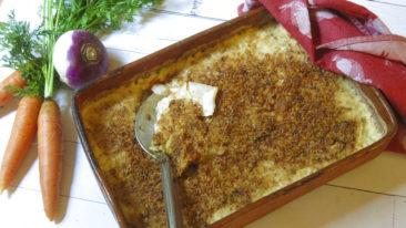 Root Vegetable Gratin is tasty side dish for Thanksgiving