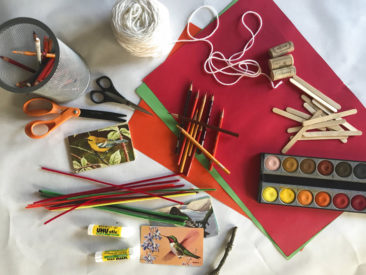 Keep kids busy at Thanksgiving gatherings with a craft table