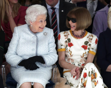 Stylish Queen Elizabeth II makes first Fashion Week visit