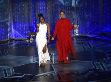 Tiffany Haddish makes Oscars fashion moment with used dress