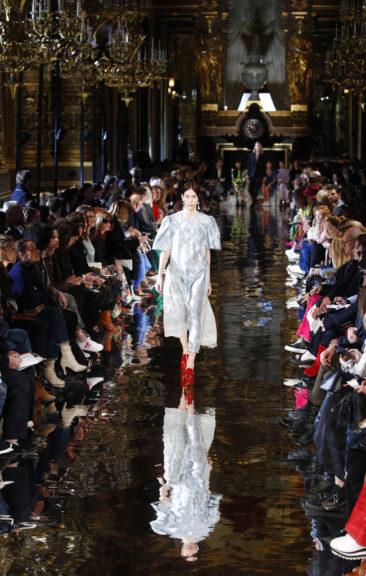 No-fur Stella McCartney fuses men's, women's styles in Paris