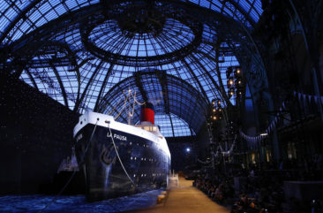 Chanel wows celebrities with ship for cruise show in Paris