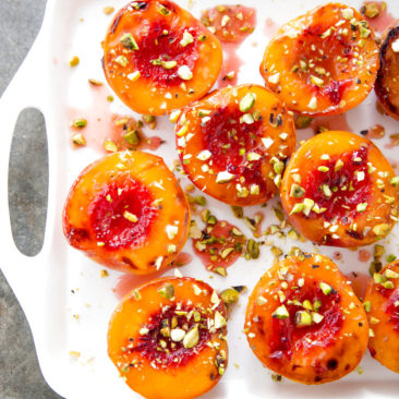 Amplify the peaches' flavor with this simple, warm dessert