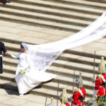 Markle's bridal gown work of Givenchy's Clare Waight Keller