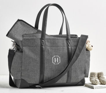 RIGHT AT HOME: Diaper bags get a stylish update