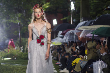 Under a steady rain, Rodarte's fairy tale designs shimmer