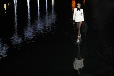 Starry Saint Laurent show in Paris sees models walk on water
