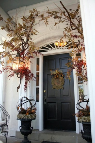 Prepping the Front Door for Thanksgiving!