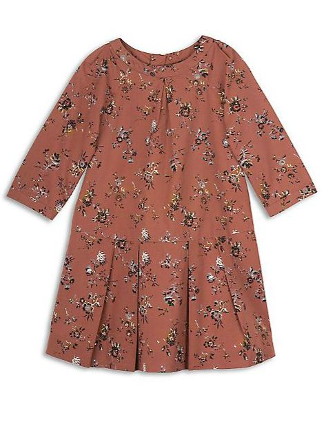 Bonpoint-Little-Girl's-Floral-Drop-Waist-Dress-orange-Fall