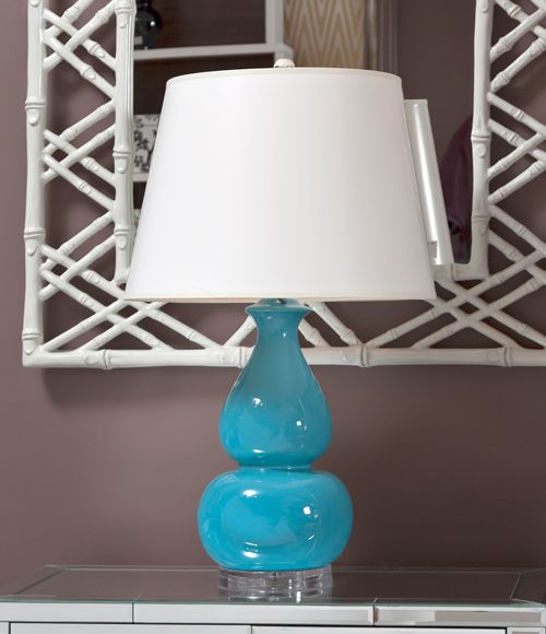 Bungalow-5-Emilia-Lamp-Turquoise-Lucite-Base-Lucite-Lamp-Lucite-Decor