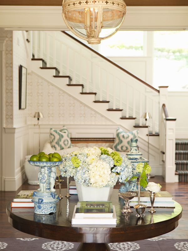 Elegant Foyer by Lee Ann Thornton, Greenwich CT