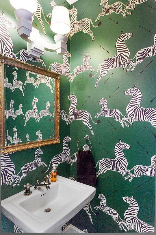 Green-Scalamandre-Zebra- Wallpaper