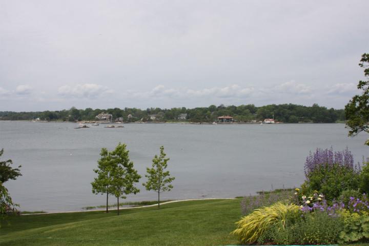 Greenwich Garden Tour 2013 - 19 Pilot Rock Road, Riverside: View of Cos Cob Harbor
