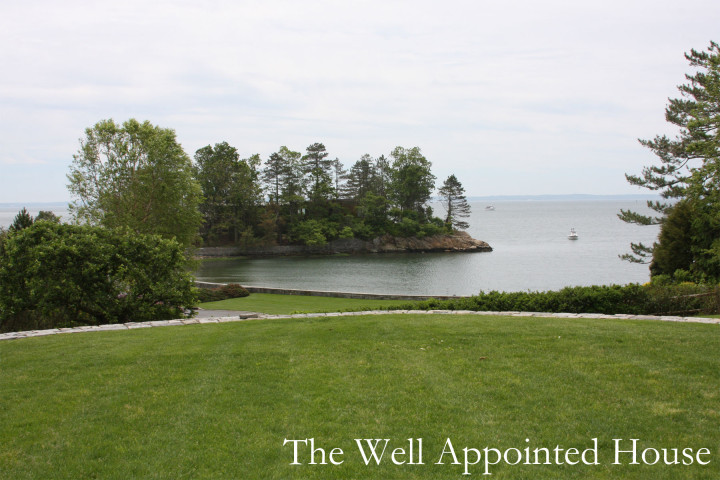 Greenwich Garden Tour 2013 - 19 Pilot Rock Road, Riverside: View of Long Island Sound from the front
