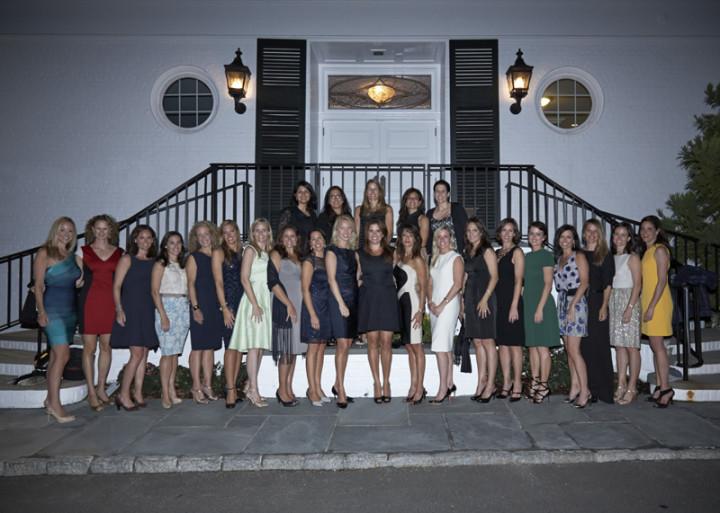 The 2013 Wall Street Tennis Challenge Women's Committee.  Photo by Elaine Ubina.