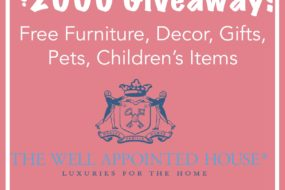 Blog Giveaway! Win a $2000 Gift Certificate to The Well Appointed House!