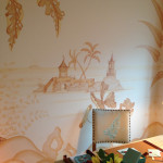 Muralist Chuck Fischer at the 2012 Kips Bay Decorator Showhouse