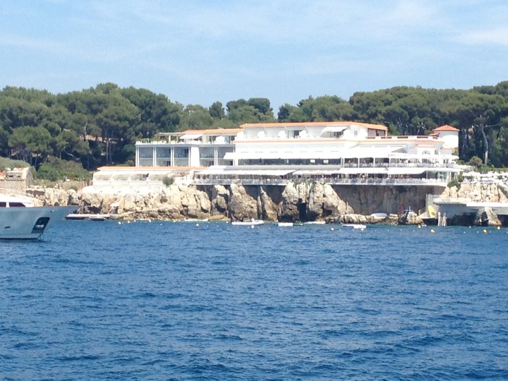 View of Eden Roc from our boat