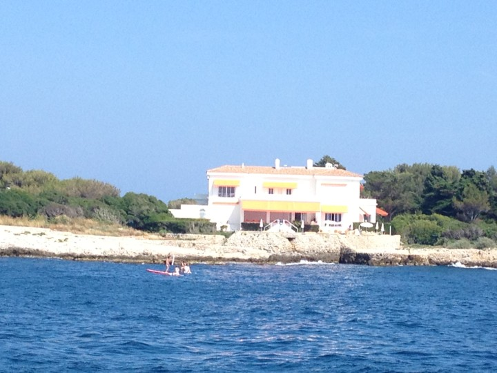 View from our boat down the French Riviera - I loved this seaside home!