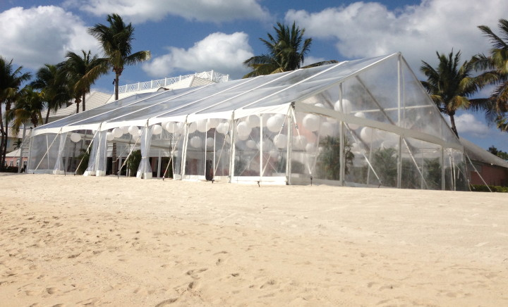 We attended a beach party one night in this tent - it was fabulous!