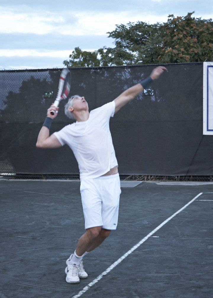 Bill Ackman in action in the finals match. Photo by Elaine Ubina.