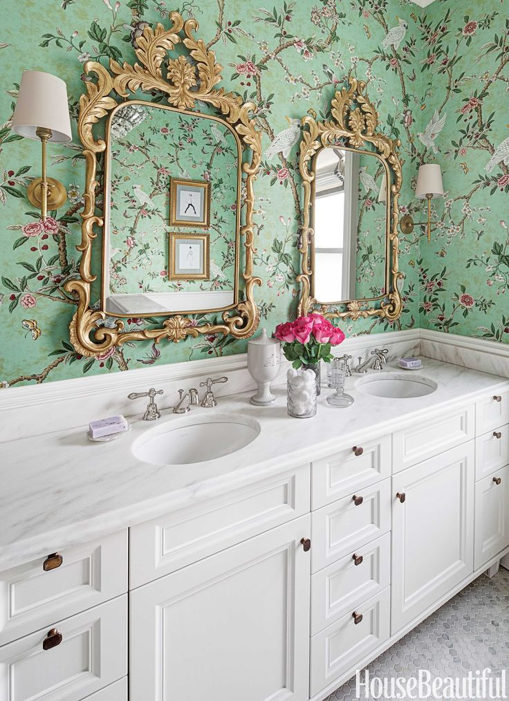 Kanchou wallpaper Brunschwig Fils Kids Girls Bathroom. Kids Bathroom Wallpaper