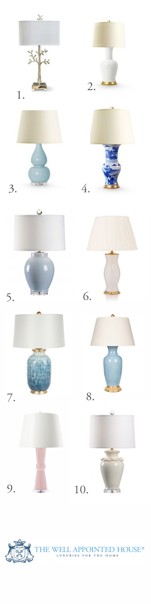 10 Favorite Table Lamps