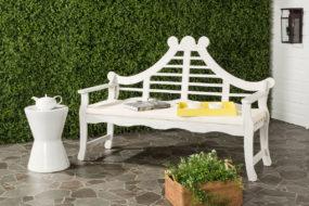 Blog Giveaway! Wales Fancy Lutyens Garden Bench in White!