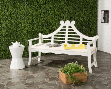 Blog Giveaway! Wales Fancy Lutyens Garden Bench in White!