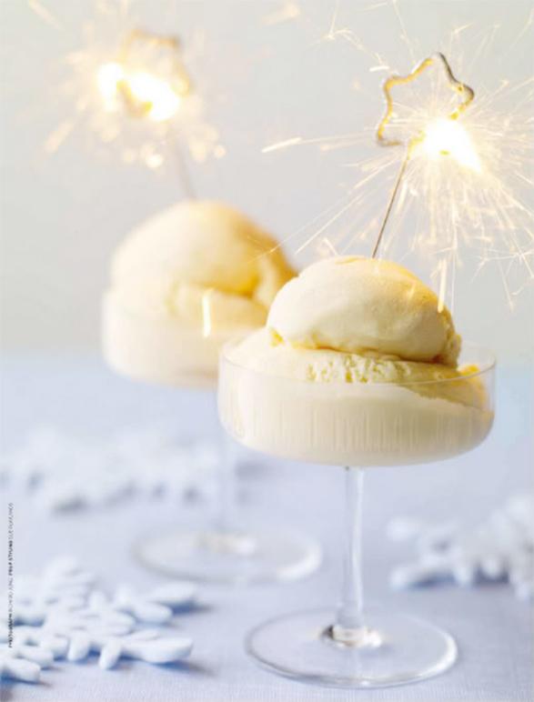 NYE sparklers in dessert