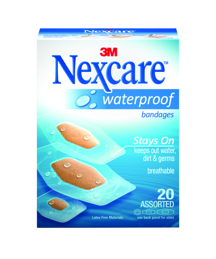 Nexcare Waterproof Bandage Assorted_FRT_CMYK