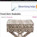 Snakeskin Trend Spotted on Elle Decor.com