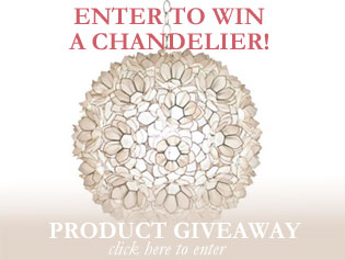 Blog Giveaway: Enter to Win a Capiz Shell Chandelier!