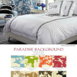 Quadrille's Paradise Background & Meloire Reverse in House Beautiful October 2011