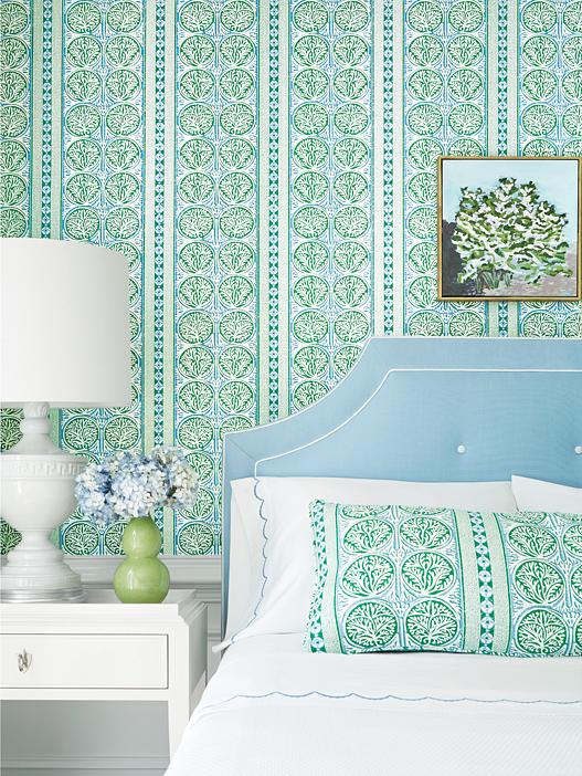 RO-FairIsle-Thibaut-Fair-Isle-Wallpaper-Green-Blue