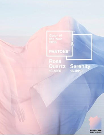 Decorating with Pantone's Colors of the Year 2016: Rose Quartz & Serenity