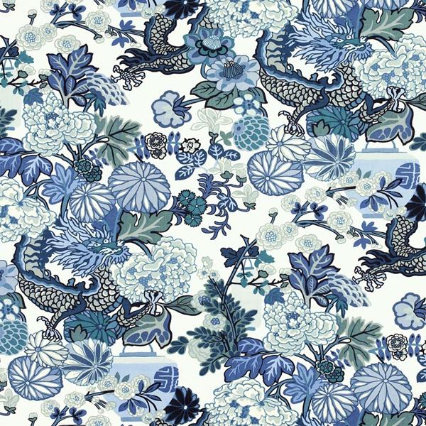 Schumacher-Chiang-Mai-Dragon-Wallpaper-China-Blue
