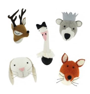 New Fiona Walker England Animal Heads & Accessories for Kids