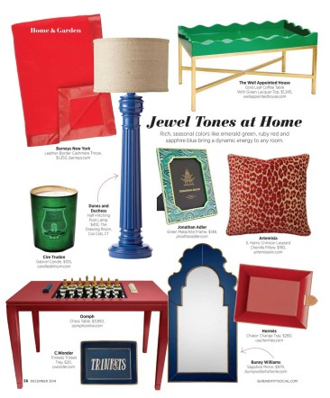 Our Green Lacquered Coffee Table Gets It's Close Up in Serendipity Magazine
