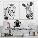 Exotic Tiger and Zebra Wall Art