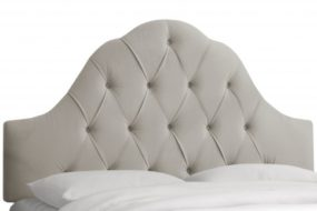 Blog Giveaway – Light Gray Velvet Arch Tufted Headboard! Enter Now to Win!  Share with Friends for Extra Entries!