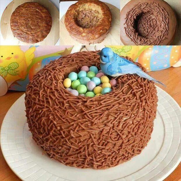birds nest cake