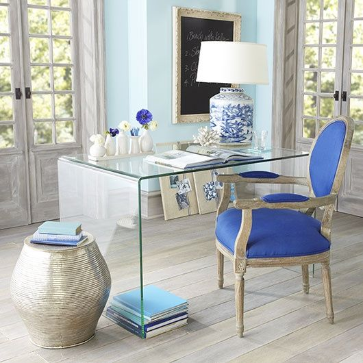 Home Office White Blue: The Well Appointed House Blog