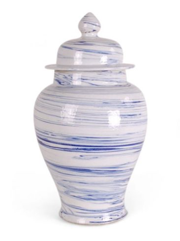 Blog Giveaway – Blue and White Porcelain Marbleized Swirl Ginger Jar!