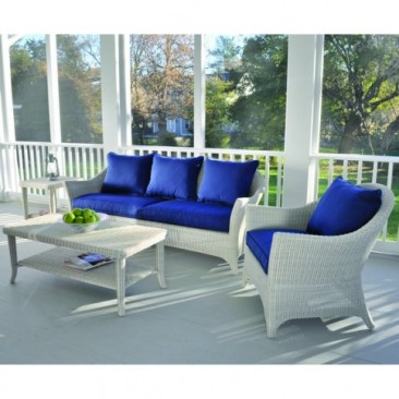 Classic White Wicker for the Front Porch